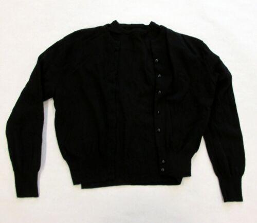 Vintage 1950s Catalina 2 Piece Black Wool Fine Light Twin Set Cardigan Sweater