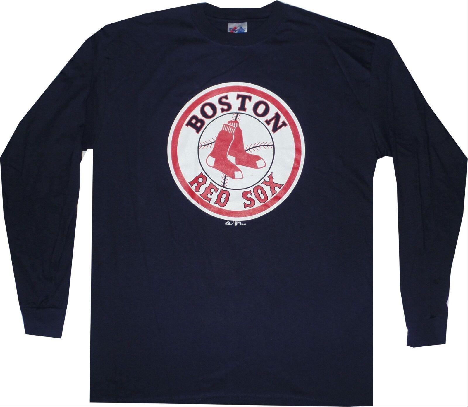 Boston Red Sox Long Sleeve Throwback Logo Majestic Oversized