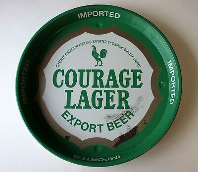COURAGE LAGER Export Beer Advertising tray Retro