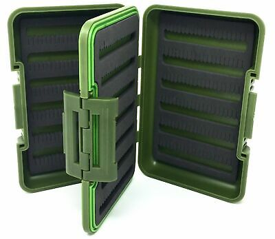 FREE SHIPPING Fly fishing fly box split foam//12 compartment Waterproof NEW