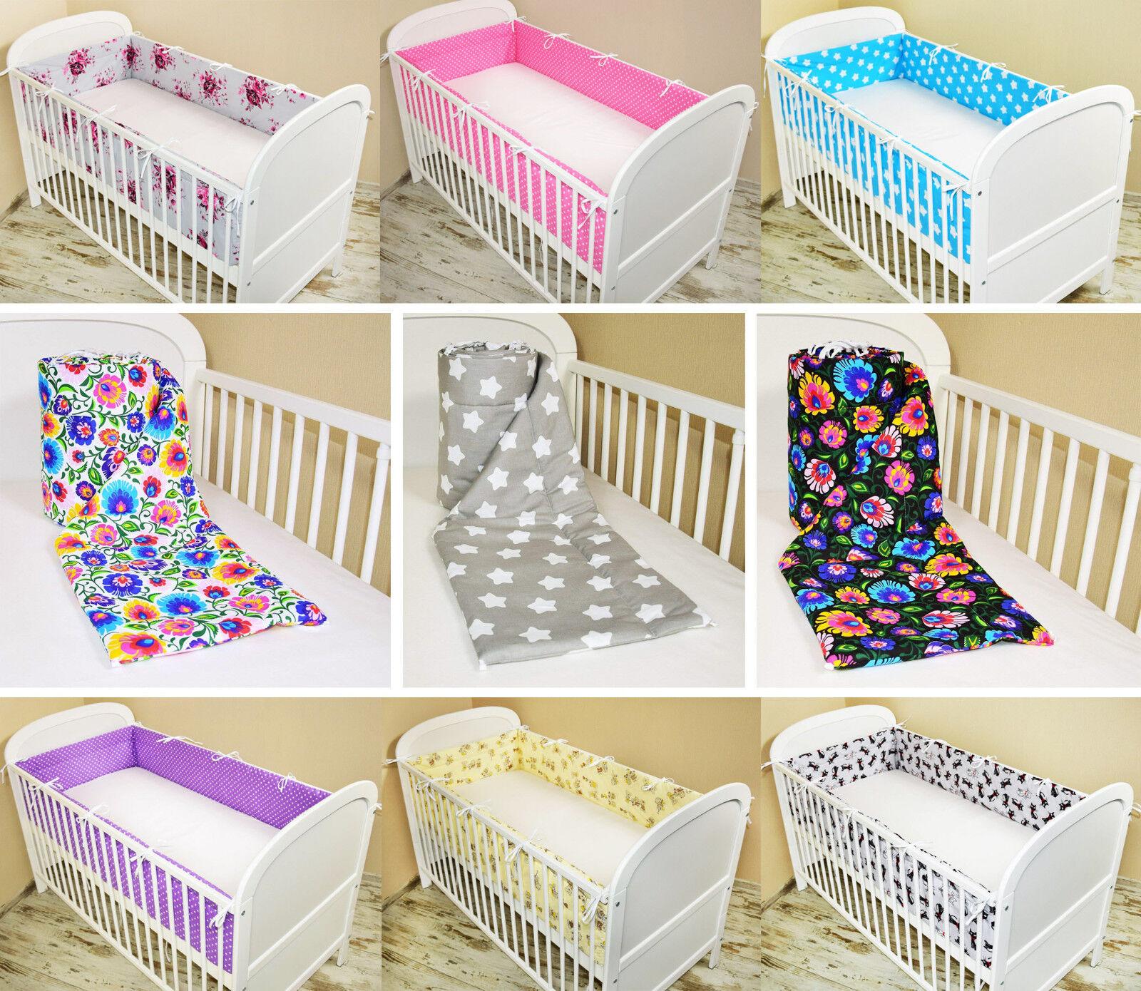 Bettumrandung Nestchen Kopfschutz 420x30, 360, 180 Bettnestchen Baby Design neu