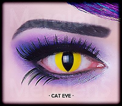 Fun Kontaktlinsen Cat Eye Party Grusel Exotic Gag Jahreslinsen Hydrogel weich (Cat Eye Kontakt)