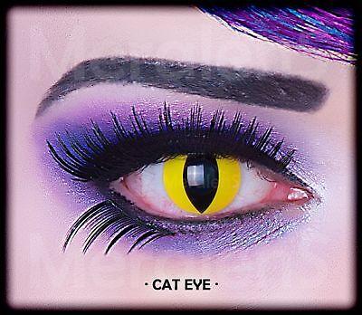 Fun Kontaktlinsen Cat Eye Party Grusel Exotic Gag Jahreslinsen Hydrogel weich
