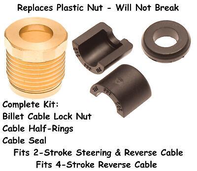 Sea Doo Billet Reverse Cable Lock Nut Seal & Half Ring Kit 4 Tec GTI GTX RXP RXT