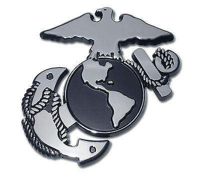 USMC Marine Corps EGA Logo Chrome Metal Premium Car Truck Motorcycle Emblem NEW