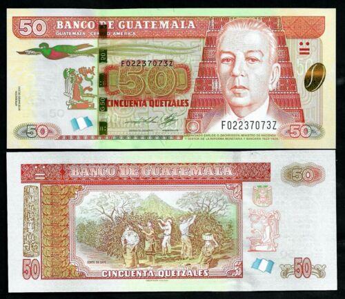 GUATEMALA - P 125 -  50 QUETZALES - GEM UNC - 2013 - REPLACEMENT NOTE - LETTER Z