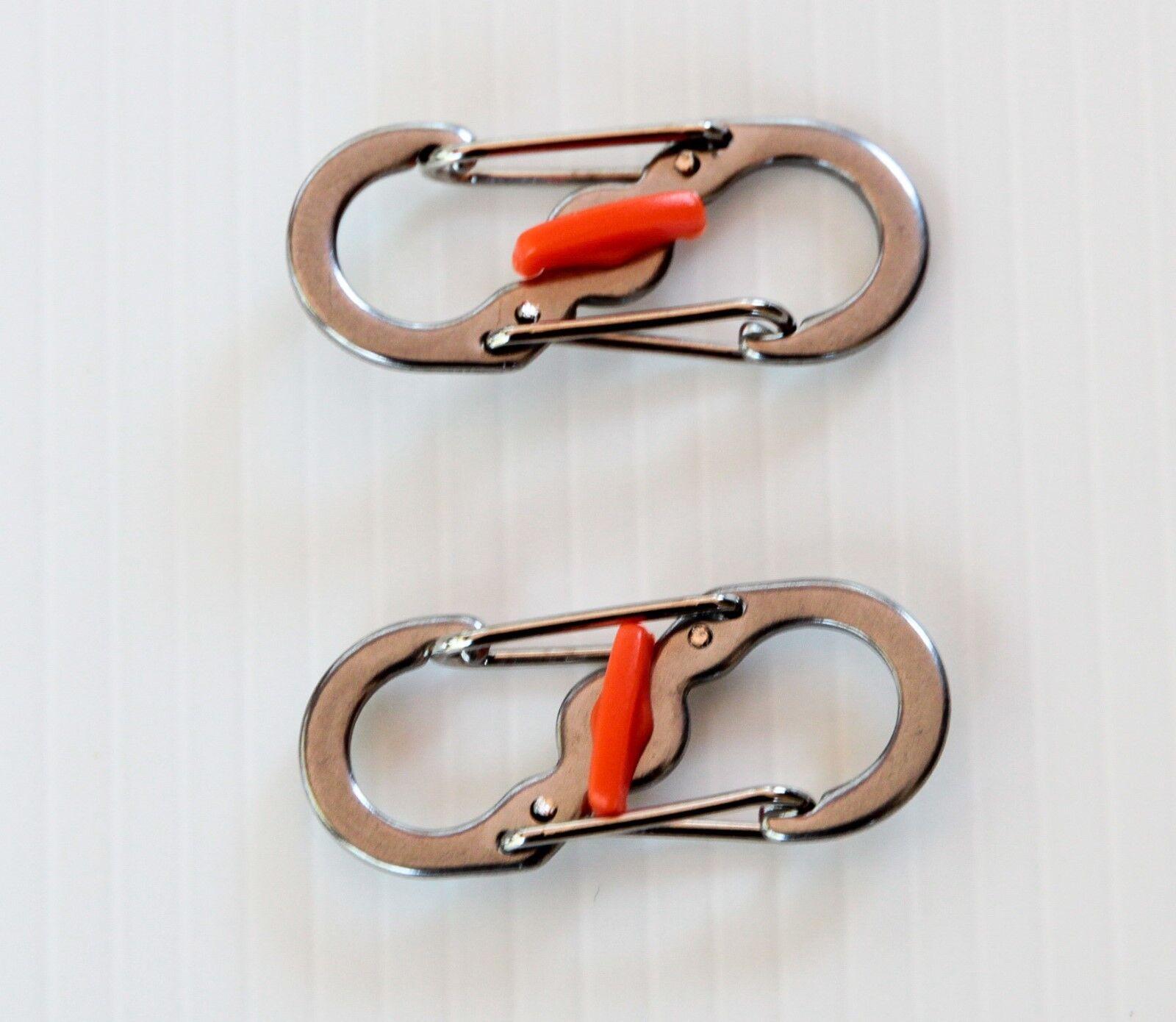 Moschettone portachiavi con sicura antiapertura di piccole dimensioni 2 pezzi