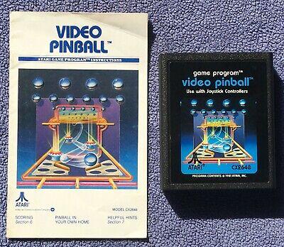 Atari 2600 - Video Pinball (Picture Label) - game cartridge & manual - tested