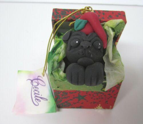 Pug Ornament Cecile Baird