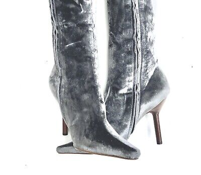 VINTAGE TOM FORD'S RICH, LUXURIOUS GUCCI VELVET HIGH BOOTS SIZE 8B