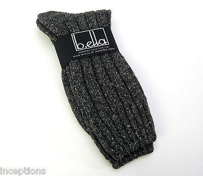 Silk Rib Socks (b.ella Ladies Wool Silk Blend Ribbed Boot Crew Socks Erin Caviar Black -)
