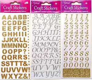 stick on letters self adhesive stick on glitter alphabet letters numbers 24984 | $ 35