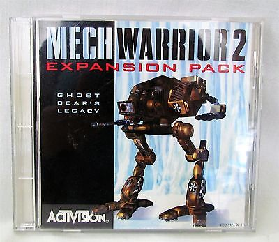 Mech Warrior 2 Expansion Pack Ghost Bear's Legacy Activision PC Game Jewel Case