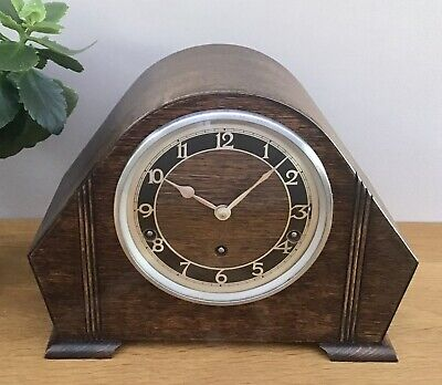 A Superb Art Deco Period Westminster Chimes Mantel Clock by Garrard. c.1930s