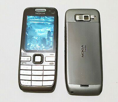 black silver cell phone mobile Housing Cover Case Fascia Faceplate for Nokia -