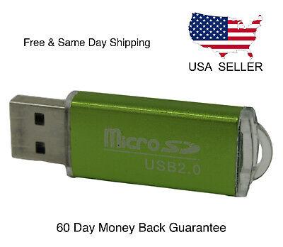 New Portable USB 2.0 Adapter Micro SD SDHC Memory Card Reader/Writer Flash Drive