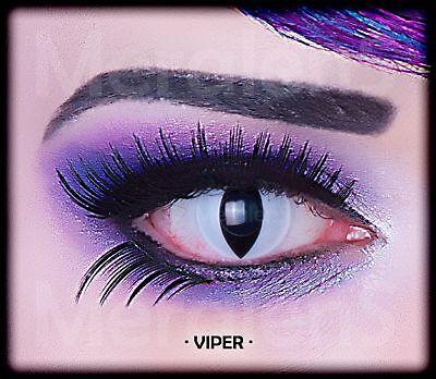 Fun Kontaktlinsen Viper Schlange Jahreslinsen Hydrogel Auge 2 - Gothic Kontaktlinsen