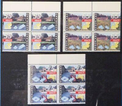Nederland 1991 nvph 1468 - 1470 Zomerzegels (MNH) blokken van 4