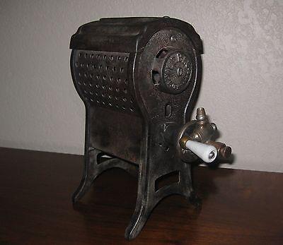 Lebau Antique 1920's Gas Heater + Stove  SMALL!   Porcelain handle Swastika mark