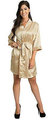 Champagne Satin Robe-Satin Bridal Party Robes-Factory Seconds-Save! $32.99 DEAL](Party Factory)