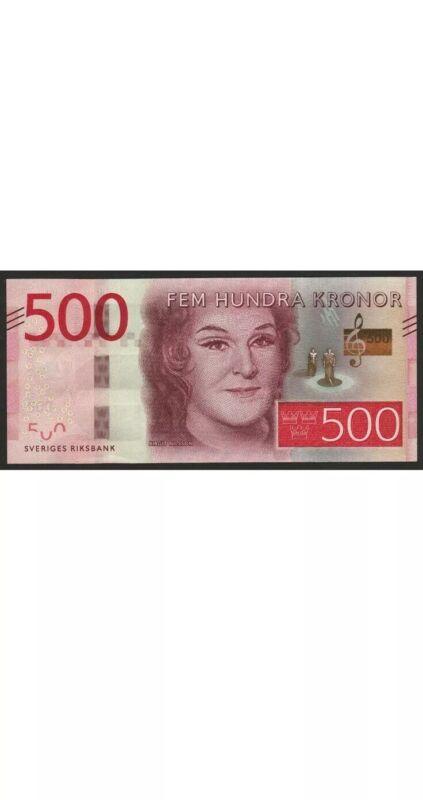 Sweden 500 Kronor Banknote. Single Swedish 500 Kroner Note. Cir Banknotes. Dt