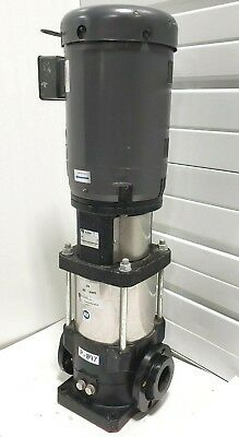 New Ebara Evmug32-3-2 10hp Baldor Vertical Multi-stage Stack Pump 230v 460v