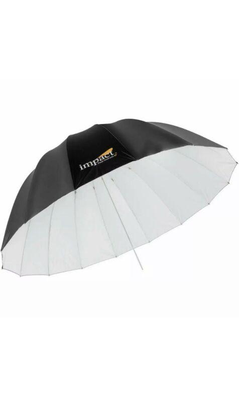 "2 Impact 65"" Deep Umbrella White w/diffusion sock."