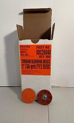 2 36 Grit Turbine Sanding Disc Box Of 100 Quick Disc Type S New