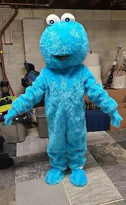 Cookie Monster Blue Adult Mascot Costume