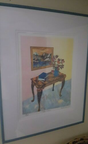 """Susan Johnson – """"Mont Blanc"""" –cut paper hand signed limited edition Custom frame"""