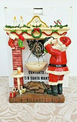 Yankee Candle Hanging Tart Wax Warmer Santa Claus Mantle Christmas Fireplace