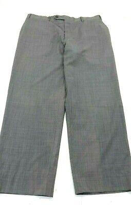 CANALI MEN'S GREY TWEED WOOL TRAVEL DRESS PANTS SIZE 7 - 36 X 28