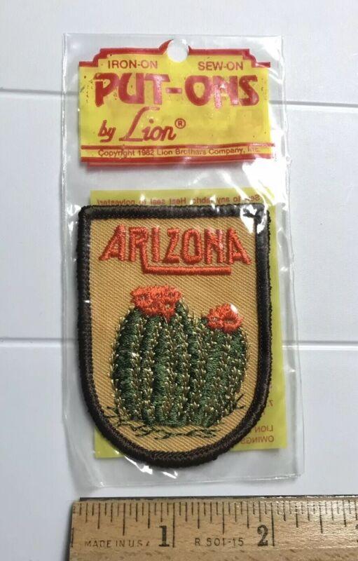 NIP Arizona Cactus Cacti Flower Blossom AZ Souvenir Embroidered Patch Badge