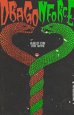 DragonForce * Original Concert Poster 11x17 rare 2006 tour print