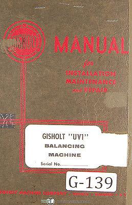 Gisholt Type S Balancing Machine Operators Maintenance Setup Manual 1951