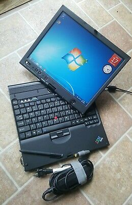 Lenovo Thinkpad X61 Tablet Touchscreen Intel Core 2 Duo 80GB HDD 3GB RAM WIN 7, used for sale  Shipping to India