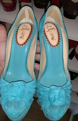 Christian Louboutin 20th Anniversary Lady Gres turquoise 160mm