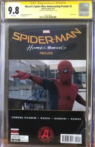 Marvel's Spider-Man: Homecoming Prelude #2__CGC 9.8 SS__Signed by Tom Holland