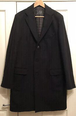 Pal Zileri Lab Mens Black Coat. Size 52 / Medium.