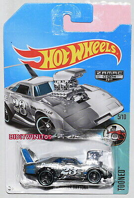 HOT WHEELS 2017 TOONED #5/10 DODGE CHARGER DAYTONA ZAMAC BAD CARD