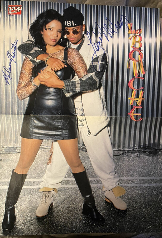 RARE Original Members of La Bouche Autograph Poster Melanie Thornton and Lane