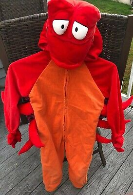 Disney Store Sebastian Costume - Youth size M - Disney Sebastian Kostüm