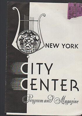 New York City Center Program & Magazine December 1944 Christmas Program