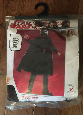 NIP Star wars costume kids Kylo Ren size Medium 8-10 , 5-7 years