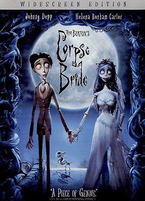 Tim Burton's Corpse Bride DVD, WIDESCREEN MOVIE JOHNNY DEPP HELENA BONHAM