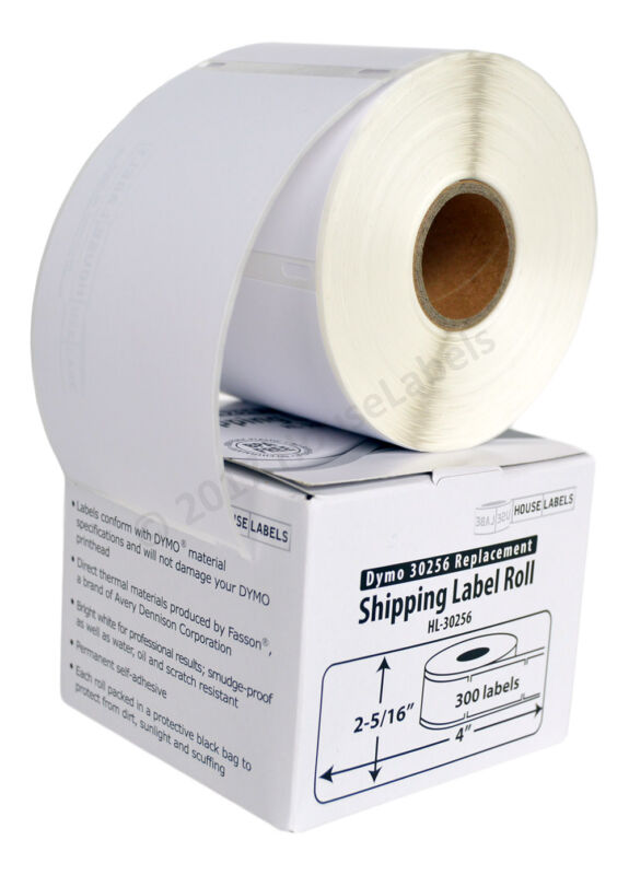 DYMO LW 30256 LARGE Direct Thermal Address Labels - (1) Roll of 300 FASSON PAPER