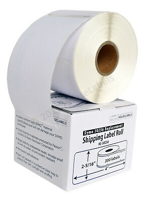 Dymo Lw 30256 Compatible Large Direct Thermal Address Labels - 6 Rolls Of 300
