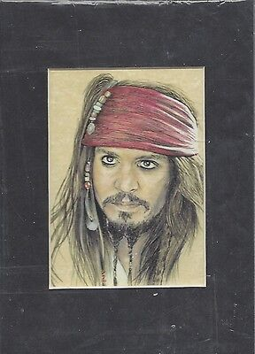 Pirates of the Caribbean Art Print of Jack Sparrow 5x7""