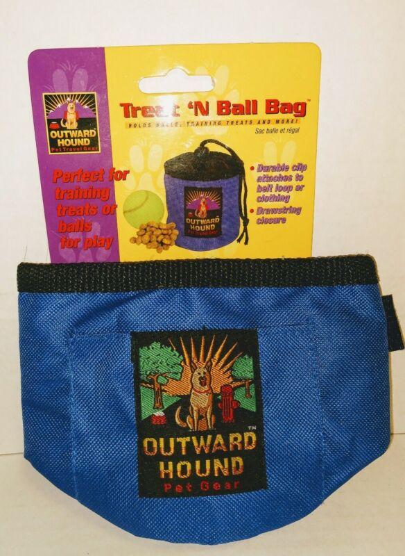 Outward Hound Dog Treat 'n Ball Bag Clip on Pouch - New - Blue