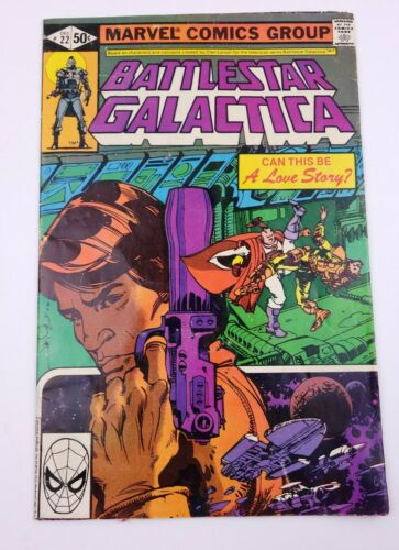 Battlestar Galactica Can This Be A Love Story Marvel Comics NO. 22 Dec. - $4.50